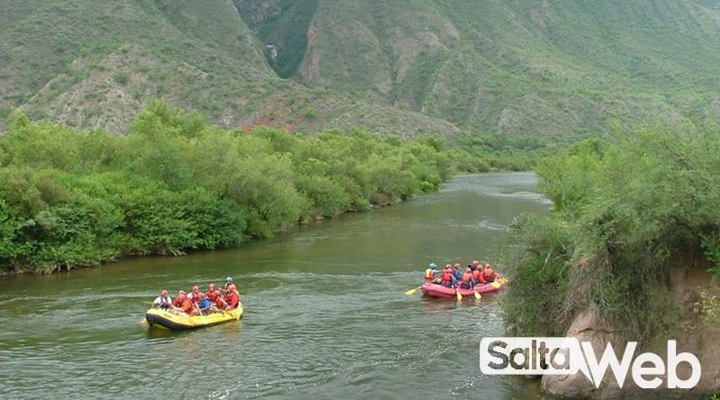 rafting en el rio juramento